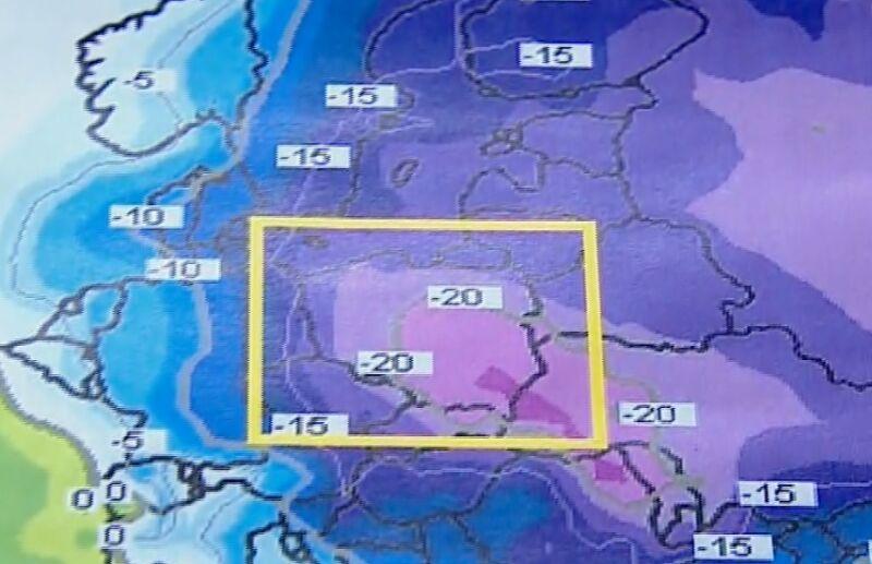 Temperatura powietrza w niedzielę (ECMWF)