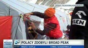 Himalaiści mają problem z zejściem z Broad Peak (TVN24)