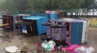 Cyklon Nisarga uderzył w zachodnie wybrzeże Indii